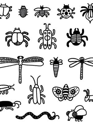 illustration portfolio Stickers Bichos cover